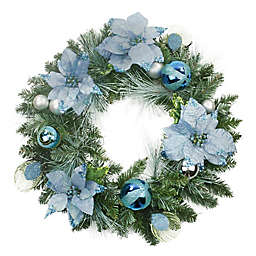 Northlight 24-Inch Pine Artificial Wreath in Blue