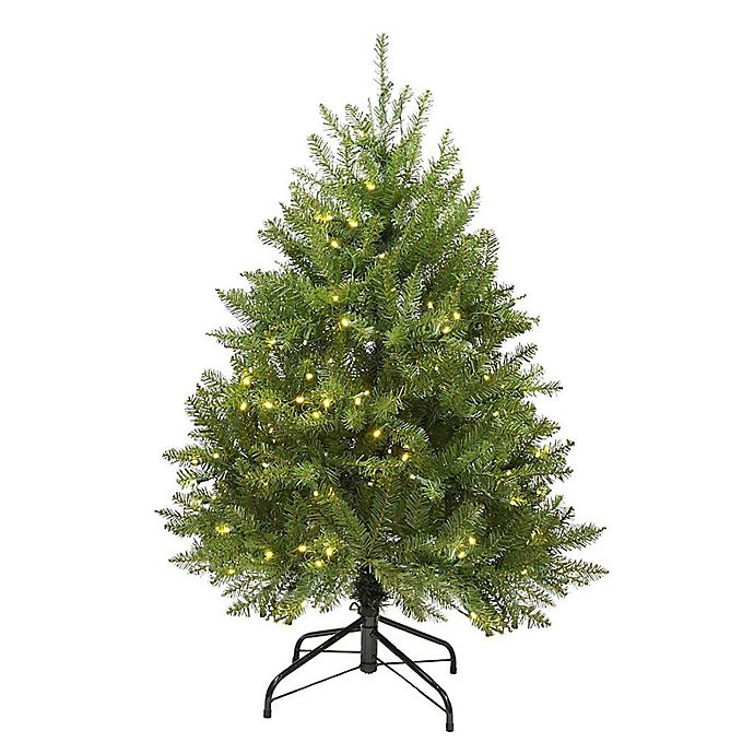 Alternate image 1 for Northlight 4-Foot Northern Pine Pre-Lit Artificial Christmas Tree with Clear LED Lights