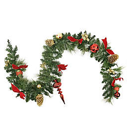 Northlight 6-Foot Traditional Pine Garland in Red/Gold