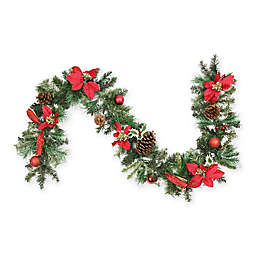 Northlight 6-Foot Traditional Pine Garland in Red