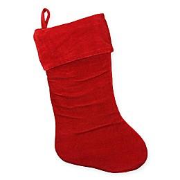 Traditional Velvet Christmas Stocking