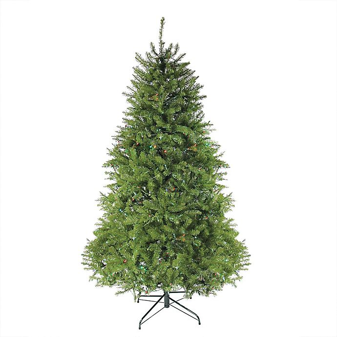 Alternate image 1 for Northlight 10-Foot Pre-Lit Artificial Christmas Tree with Multi-Color Lights