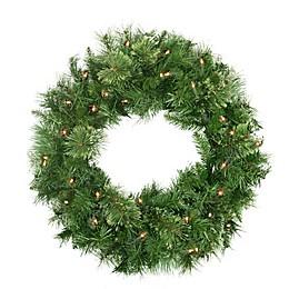 Northlight 24-Inch Pre-Lit Wreath