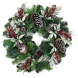 Northlight 24-Inch Frosted Pine Wreath