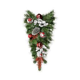 Northlight 24-Inch Unlit Teardrop Christmas Swag in Green