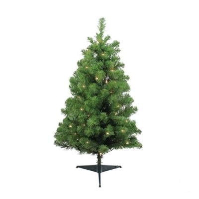 Northlight 3-Foot Pre-Lit Artificial Christmas Tree with ...