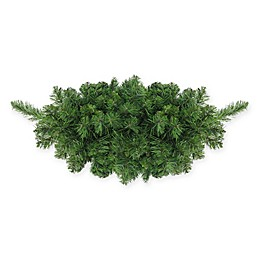 Northlight 32-Inch Unlit Lush Mixed Pine Christmas Swag in Green