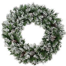 Northlight 36-Inch Flocked Wreath