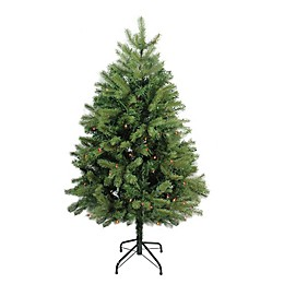 Northlight 4-Foot Noble Fir Pre-Lit Artificial Christmas Tree with Multi-Color Lights
