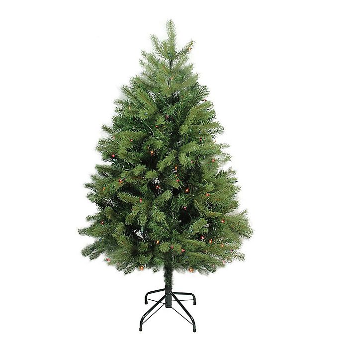 Alternate image 1 for Northlight 4-Foot Noble Fir Pre-Lit Artificial Christmas Tree with Multi-Color Lights