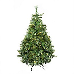 Northlight 4.5-Foot Cashmere Pre-Lit Artificial Christmas Tree with White LED Lights