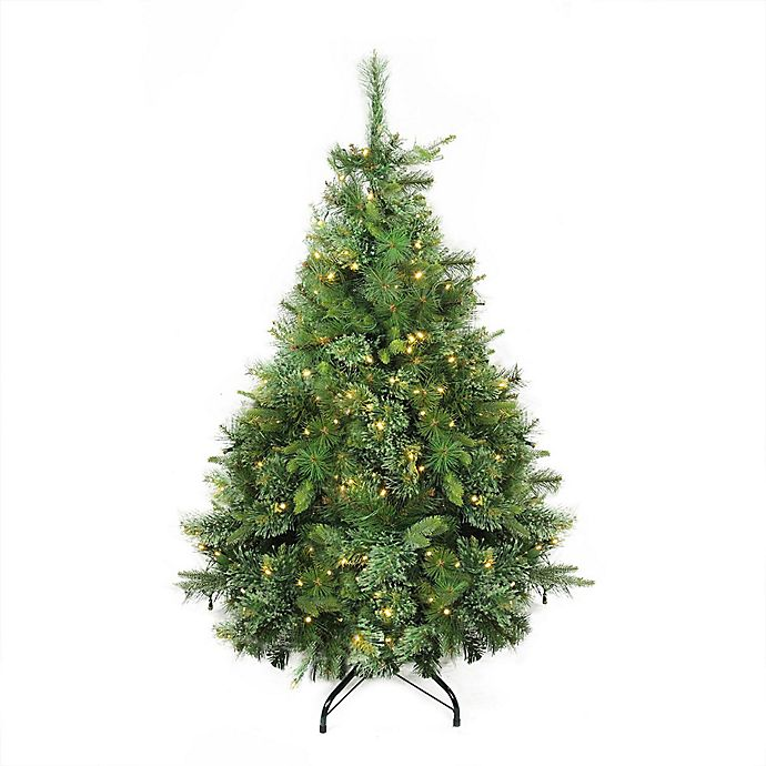 White 4 Foot Christmas Tree: Northlight 4.5-Foot Cashmere Pre-Lit Artificial Christmas
