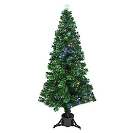 6-Foot Fiberoptic Christmas Tree with Color LED Micro Lights