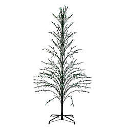 6-Foot Pre-Lit Yard Art Tree Green Lights