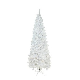 Northlight 6.5-Foot Pre-Lit Artificial Christmas Tree in White with Clear Lights