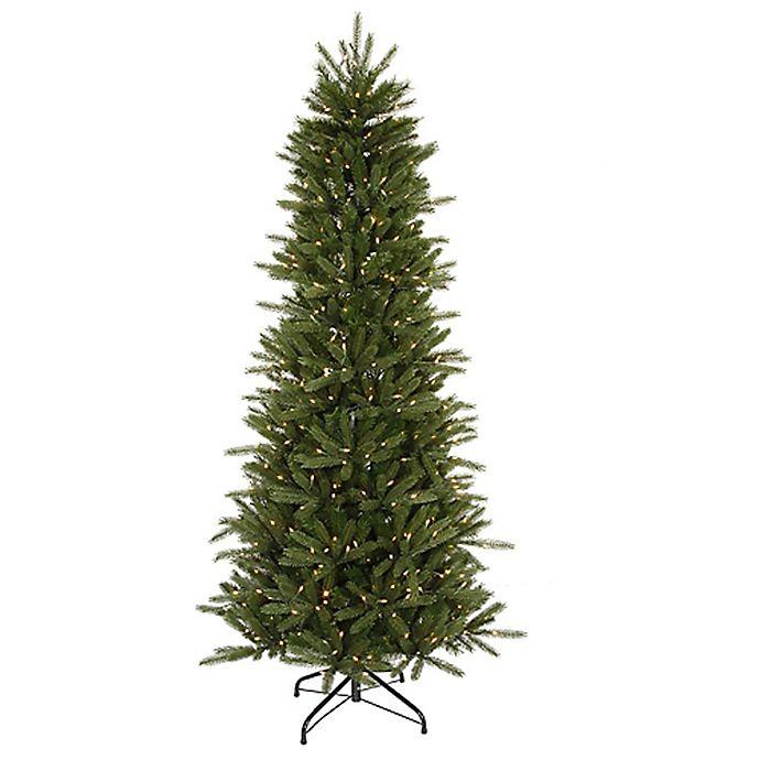 Alternate image 1 for Vickerman 6-1/2-Foot Pre-Lit Slim Vermont Fir Artificial Christmas Tree