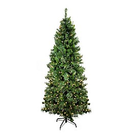 Northlight 6.5-Foot Pre-Lit Cashmere Pine Artificial Christmas Tree with Clear Lights