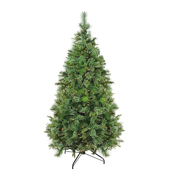 Alternate image 1 for Northlight 6.5-Foot Pre-Lit Traditional Christmas Tree in Green with Clear Lights