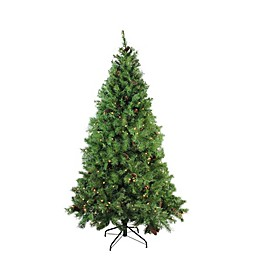 Northlight 6.5-Foot Pre-Lit Traditional Mixed Christmas Tree in Green with Clear Lights