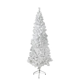 6-Foot 5-Inch  Unlit Christmas Tree in White