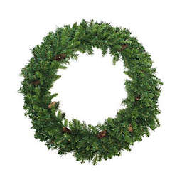 Northlight 5-Foot Traditional Pine Wreath with Pinecones