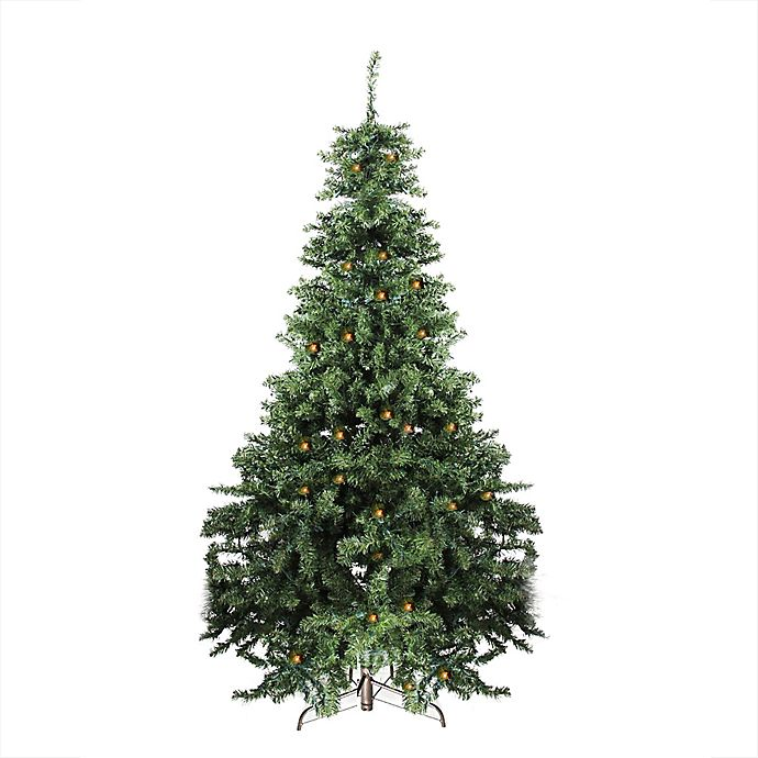 new styles 5f7ad a5284 7-Foot Canadian Pine Pre-Lit Artificial Christmas Tree with ...