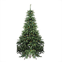 7-Foot Canadian Pine Pre-Lit Artificial Christmas Tree with Clear/White Lights