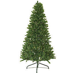 7-Foot Canadian Pine Pre-Lit Artificial Christmas Tree with Clear Lights