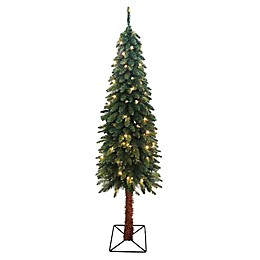 Northlight 7-Foot Pre-Lit Two-Tone Artificial Christmas Tree with Clear Lights