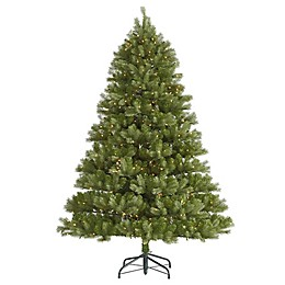 Vickerman 7.5-Foot Belvedere Spruce Pre-Lit Artificial Christmas Tree with Clear LED Lights