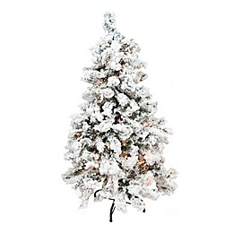 Northlight 7-Foot 6-Inch Heavilly Flocked Pre-Lit Christmas Tree with Clear Lights