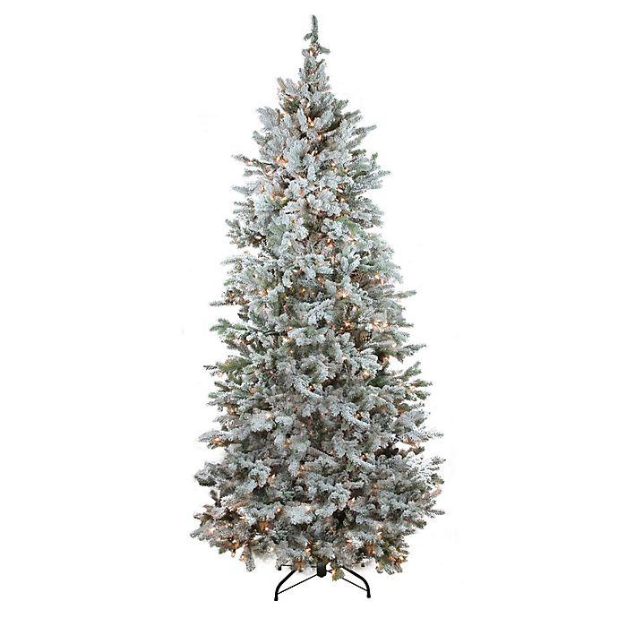 Northlight 7.5-Foot Flocked Pre-Lit Artificial Christmas ...