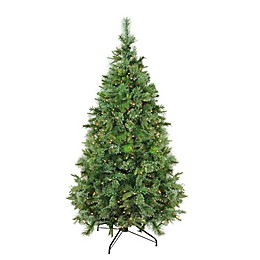 Northlight 7.5-Foot Mixed Pre-Lit Artificial Christmas Tree with Dura-Lit Clear Lights