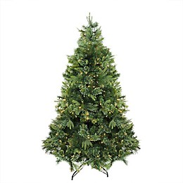 Northlight 7.5-Foot Cashmere Pre-Lit Artificial Christmas Tree with White LED Lights