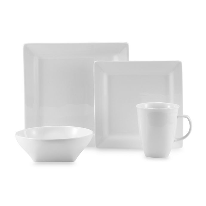 Alternate image 1 for Oneida® Chef's Table™ White Porcelain Soft Square Dinnerware Collection