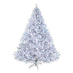7.5-Foot White Cedar Pine Pre-Lit  Artificial Christmas Tree with Blue Lights