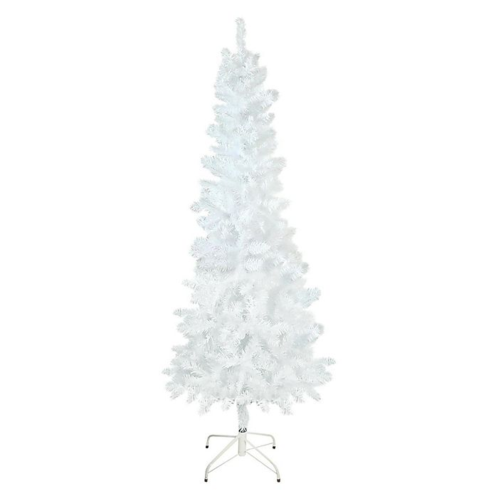 Northlight 7 5 Foot White Glimmer Iridescent Pine Artificial Christmas Tree Bed Bath Beyond