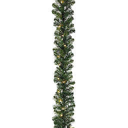9-Inch Pine Garland with Clear Lights