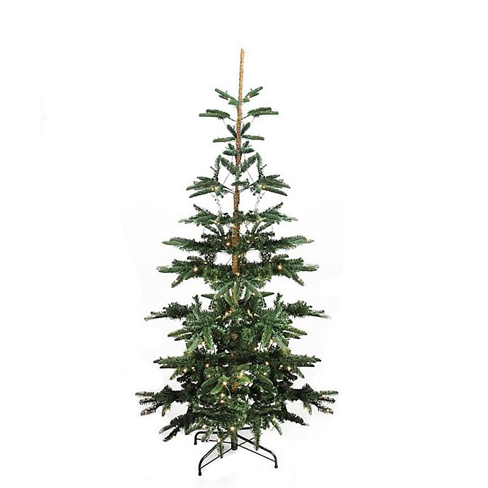 Alternate image 1 for Northlight 9-Foot Pre-Lit Noble Fir Artificial Christmas Tree with Warm Clear LED Lights