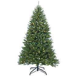 Northlight 9-Foot Pre-Lit Essex Pine Artificial Christmas Tree with Warm Clear Lights