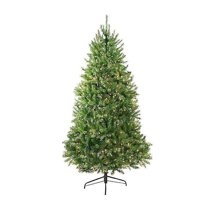 Alternate image 1 for Northlight 9-Foot Pre-Lit Northern Pine Artificial Christmas Tree with Warm Clear LED Lights