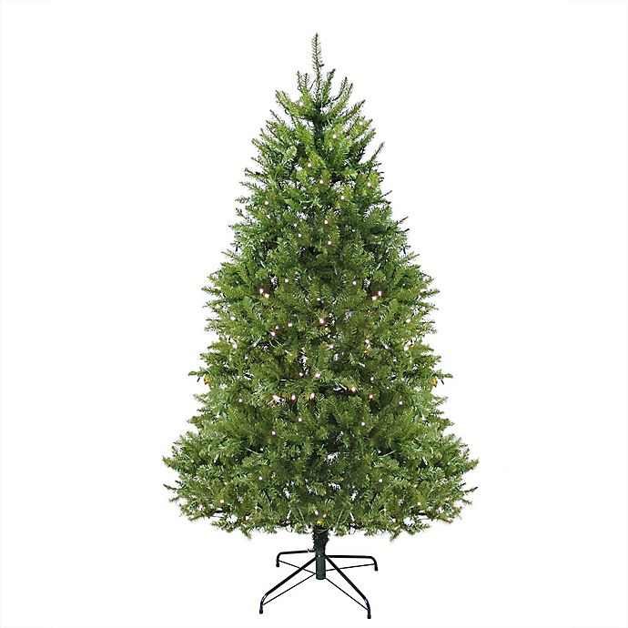 Alternate image 1 for Northlight 9-Foot Northern Pine Pre-Lit Artificial Christmas Tree with Clear LED Lights