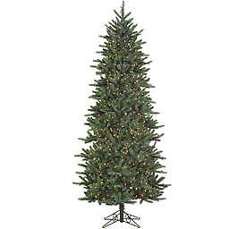 Santa's Own 9-Foot Slim Fresh Cut Carolina Frasier Artificial Christmas Tree with Multi-Color Lights