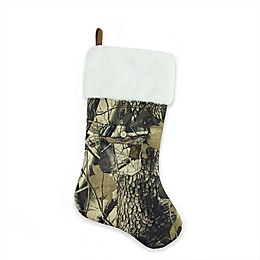 Northlight Camouflage Christmas Stocking in Brown