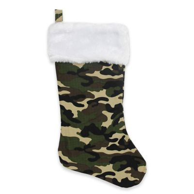 northlight camouflage christmas stocking in green buybuy baby - Camo Christmas Stocking