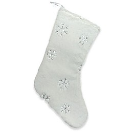 Northlight Winter's Beauty Iver Snowflakes Christmas Stocking