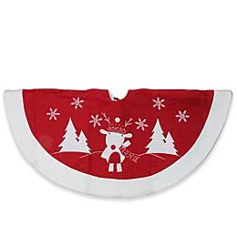 Northlight Embroidered Reindeer Christmas Tree Skirt