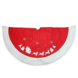 Northlight Santa Claus and Reindeer Christmas Tree Skirt