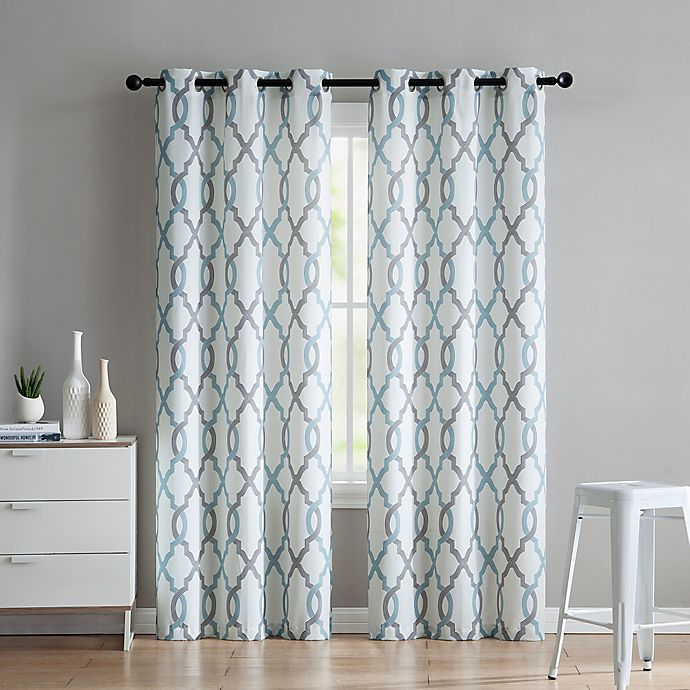 Alternate image 1 for VCNY Home Caldwell 2-Pack Grommet Window Curtain Panels