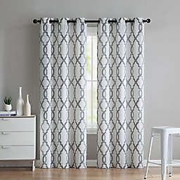 VCNY Home Caldwell 2-Pack 84-Inch Grommet Window Curtain Panels in Charcoal